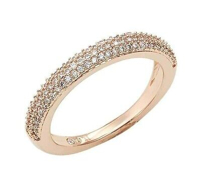 Stackable Cubic Zirconia Band - Nadri  Stackable Cubic Zirconia Band Ring- Rose Goldtone, Size 6, NWT