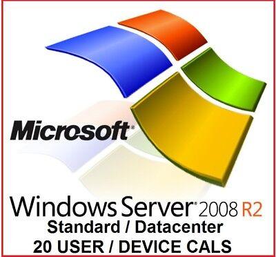 Msft Windows Server 2008 R2 Remote Desktop Services Rds 20 User   Device Cals