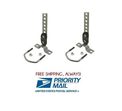 """(2 pc) Universal Tailpipe Hanger 360 Swivel 1-1/2"""" To 2-1/2"""" Exhaust Tail Pipe"""