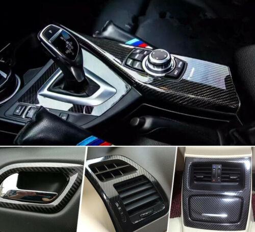 Car Parts - Car Stickers Carbon Fiber Vinyl Film Wrap Auto Interior DIY Parts Accessories US