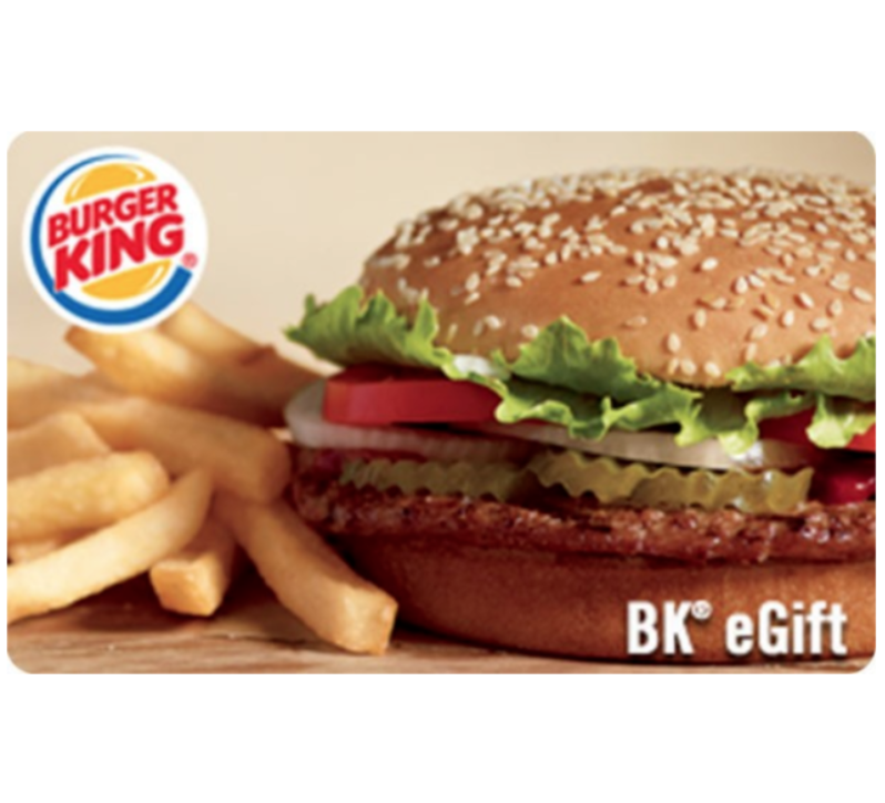 Купить Buy a $25 Burger King Gift Card for only $20  - Email delivery