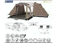 Outwell Michigan 6, Family 6 berth tent with front extension, carpet and a footprint.