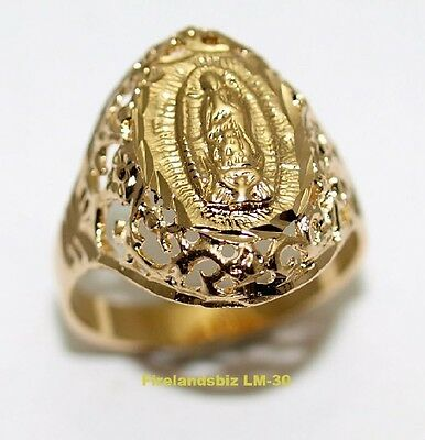 Our Lady of Guadalupe Ring 24K Gold Layered Hispanic Jewelry Womans Ring