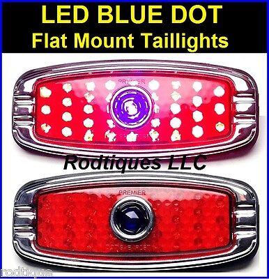 Blue Dot Flat Mount LED Taillights Turn, Tail & Brake Lights Hot Rod Rat C4148BD