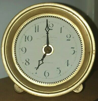 Laura Ashley Heavy Brass Clock. Nice Clock, Face a bit Faded. Free UK postage.