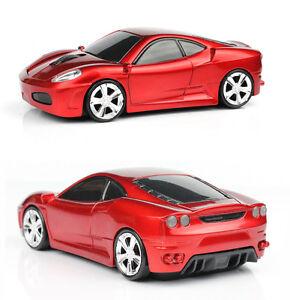 UK 2.4GHz Wireless 3D 1600DPI Ferrari Car Shape Optical Usb Gaming Mouse Mice