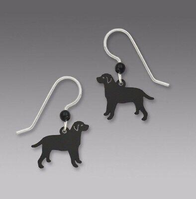 Sienna Sky BLACK LAB Dog EARRINGS STERLING Silver Labrador Retriever + Gift Box