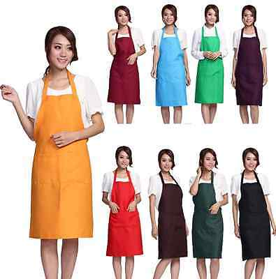 New Plain Apron with Front PocketS Cooking ...