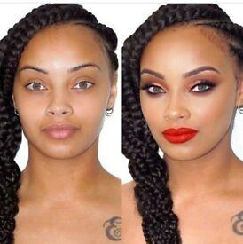 Afro caribbean hair salon box braids, crochet braids, cornrows, Brazilian hair lace frontal