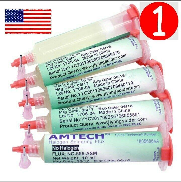 NC-559-ASM Flux, Halogen Free, 10cc Tube, Amtech