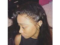 Weave single-plaits Ghana-braids lace-frontal crochet-braids