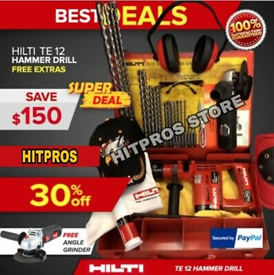 Hilti Te 12 Preowned Free Angle Grinder Bits Extras Fast Ship