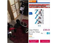 toddler trike bike 3 wheel 12 month+ baby unisex