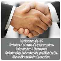 Conseils de carrière et rédaction de CV