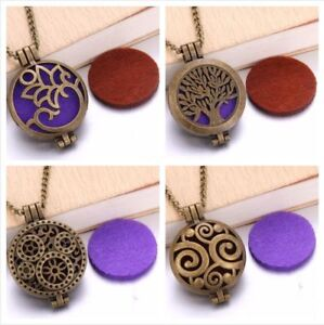 New Bronze Colored Diffuser Aromatherapy Necklaces
