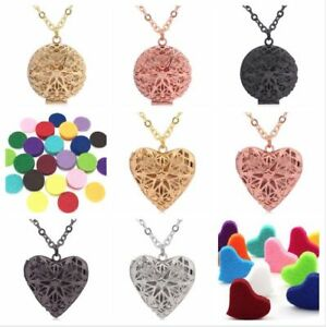 New Round or Heart Shaped Diffuser Aromatherapy Necklaces
