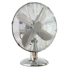 "Daewoo 12"" Oscillating Desk Fan - Brass (New)"