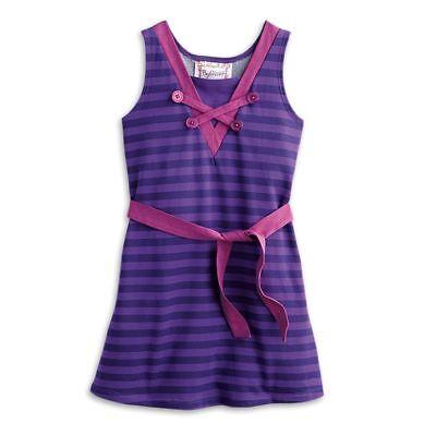 American Girl Rebecca Rubin Seashore Stripes Dress for Girls size 8 NWT](Dresses For Girls Size 8)