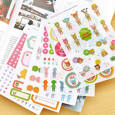 6 Sheets Sonny Angel Doll Diary Calendar Filofax Notebook Decoration Stickers
