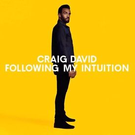 CRAIG DAVID Concert 26th March 2017 Standing - Following my intuition tour (O2 Arena London, 6:00pm)