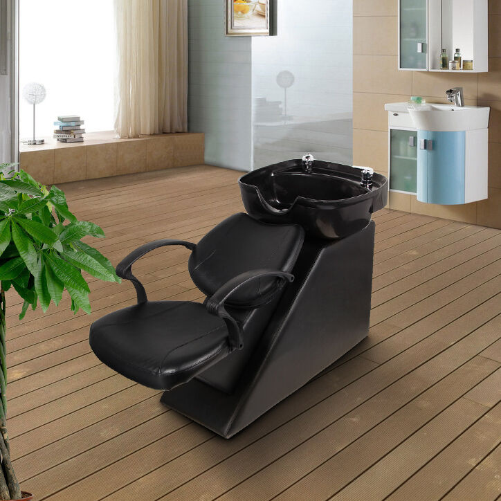 Backwash Chair Shampoo Bowl Spa Sink Double Drain Beauty Salon Unit Station