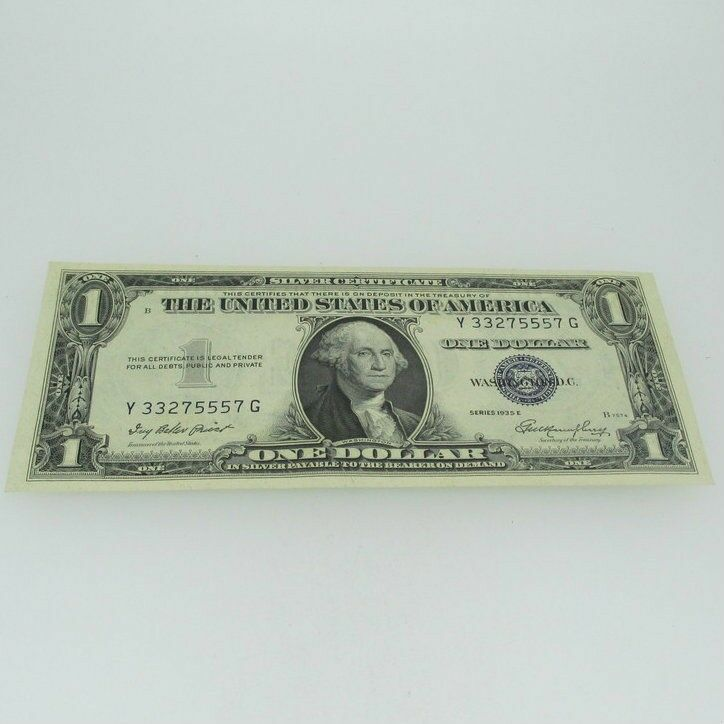 1935 E Silver Certificate United States 1 Dollar Bill One Dollar 600711