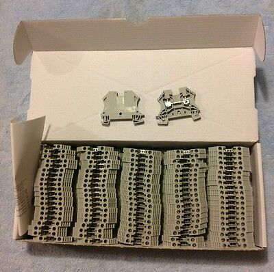 Allen-bradley 1492-j4 Feed Thru Screw Terminal Block 4mm Gray Box Of 100 Pcs