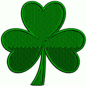 8ef0bc59 IRISH GREEN CLOVER Embroidered PATCH SHAMROCK Iron-on FREE SHIPPING USA