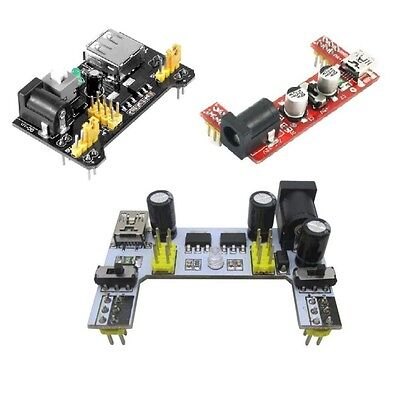 Solderless Mb102 Breadboard Power Supply Mini Usb 3.3v 5v Dc 7-12v New