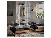 IKEA UTÅKER stackable twin beds in pine with x 2 Malfors Mattresses