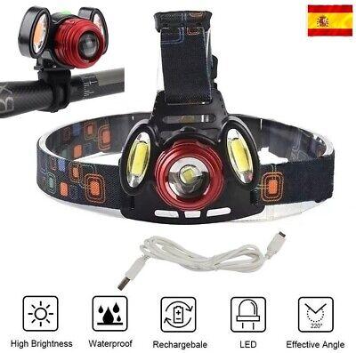Linterna Frontal Recargable De luz LED ML T6 + 2X COB ZOOM...