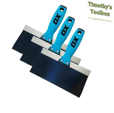 Ox Pro Taping Knife Blue Steel 81012 Pack
