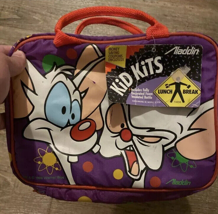 VINTAGE 1996 PINKY AND THE BRAIN SOFT LUNCH BOX w/ TAGS