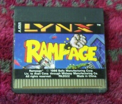 RAMPAGE GAME FOR THE ATARI LYNX HANDHELD SYSTEM CONSOLE - VINTAGE - RARE
