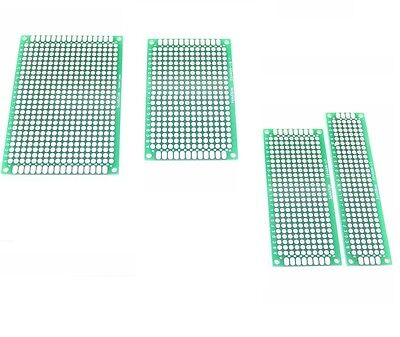 Double Side Prototype Pcb Bread Board Tinned Universal Fr4 2x8cm - 9x15cm