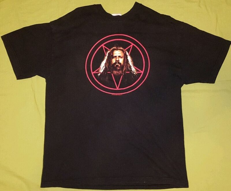 Rob Zombie Pentagram Baphomet XL Shirt Demonoid 2003
