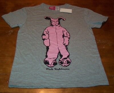 A CHRISTMAS STORY RALPHIE IN PINK BUNNY OUTFIT BEDTIME T-SHIRT Size MEDIUM NEW
