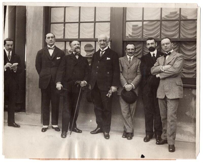 1917 Italian War Mission at Waldorf Astoria Hotel New York Original News Photo