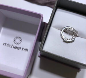 Hoop earrings with diamonds in sterling silver from Michael Hill