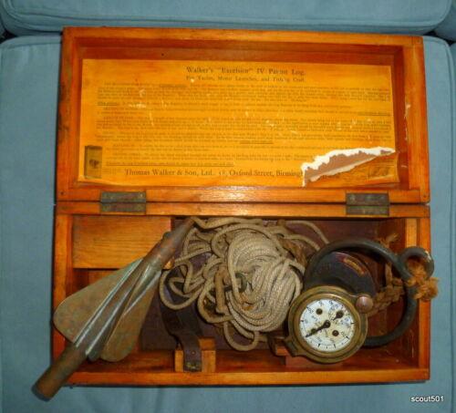 Antique Walker's Excelsior IV Taffrail Patent Log Yacht Motorboat Register