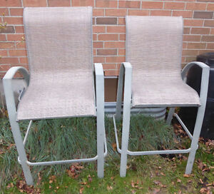 2 patio bar stools