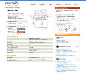 CENTRO 3000 NATURAL GAS BBQ