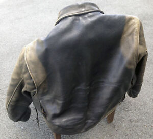 Fox Creek Leather Motorcycle Jacket size 52