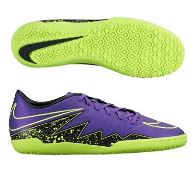 Nike Hypervenom Shoes Mens 10 Phelon II IC Indoor Turf Soccer Grape Volt