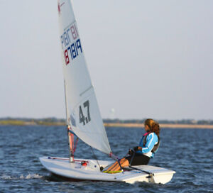 Laser 4.7 sail and mast for learn to sail