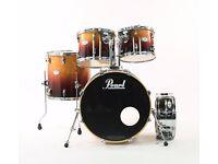 Pearl Vision VBL/SST Drum Kit Tobacco Lacquer Fade & Sensitone Snare Drum
