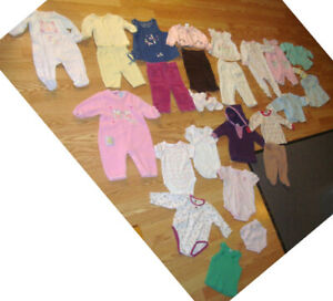 Lot A of 26 Piece Clothing Size 3-6 Months - $45 for all!