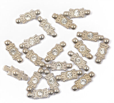 20 Clear 2 Hole Silver Plated Spacer Bar Alloy Beads Craft Findings Tools Plated 2 Hole Spacer