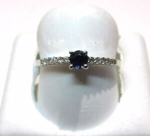 DIAMOND AND SAPPHIRE 10KT BRAND NEW RING!