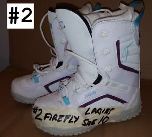 LADIES FIREFLY SNOWBOARD BOOTS SIZE 10